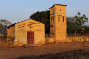La vecchia chiesa parrocchiale di Cotiakou