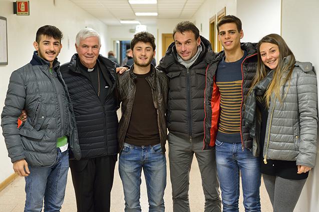Con Mons. Giovanni D'Ercole e don Marco Pozza