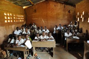 Gli alunni in una scuola di Tshimbulu nella Repubblica Democratica del Congo