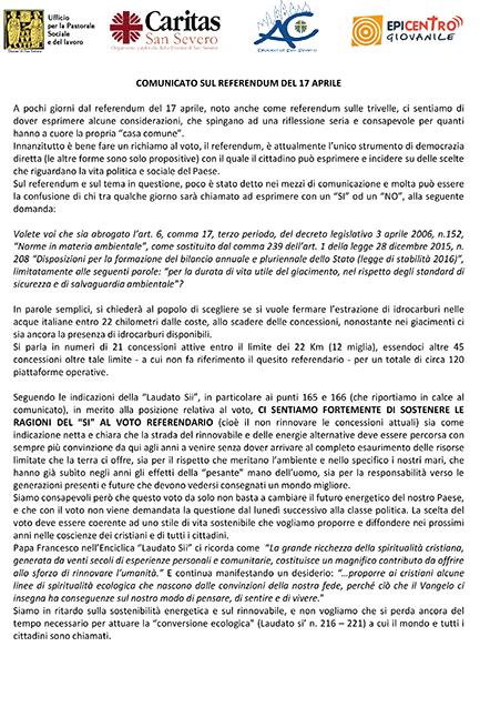 Microsoft Word - Comunicato sul referendum